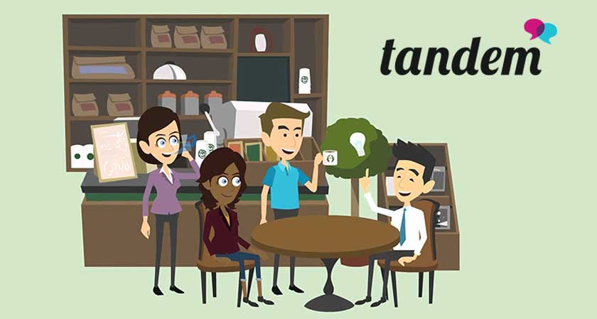 Why not give a try to Tandem, all you language newbies'?