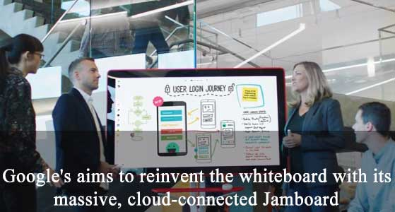 Google's aims to reinvent the whiteboard with its massive, cloud-connected Jamboard