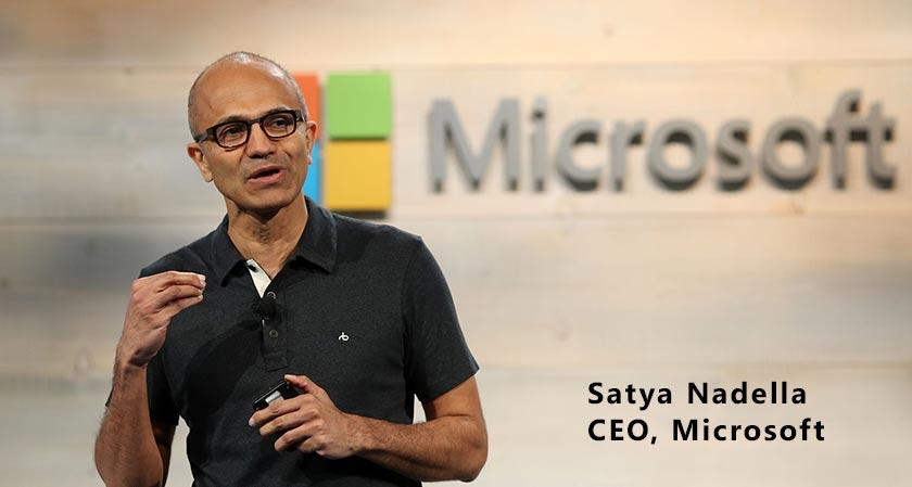 """""""We have no global growth, we need AI"""" says Microsoft CEO Satya Nadella"""