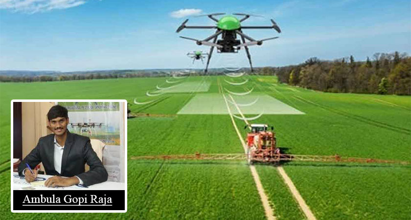 Engineering student develops agricultural drones to alleviate farmers' difficulties