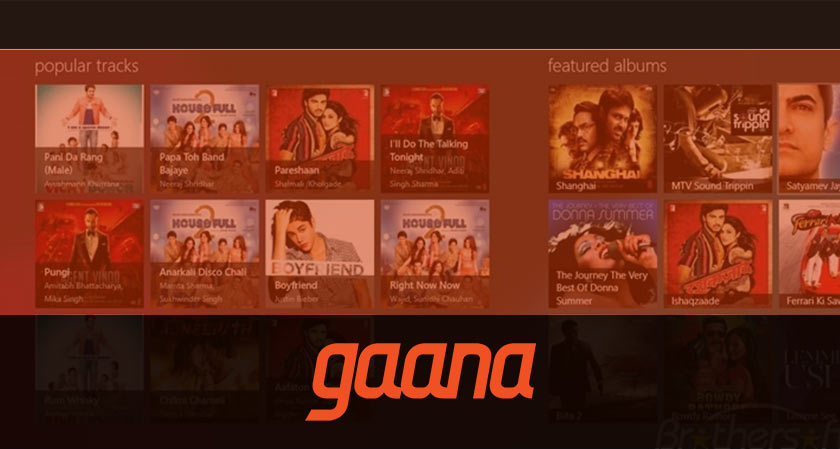 Gaana revamps its app to add personalized search and lyrics in the player