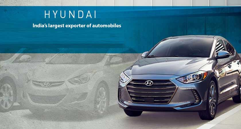 Hyundai Motors India Limited becomes the country's largest exporter of automobiles