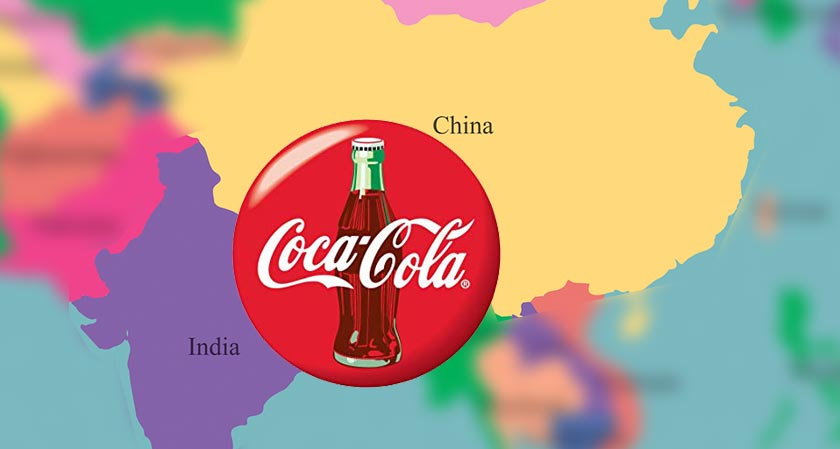India and China are the hugest markets for Coca-Cola in Asia