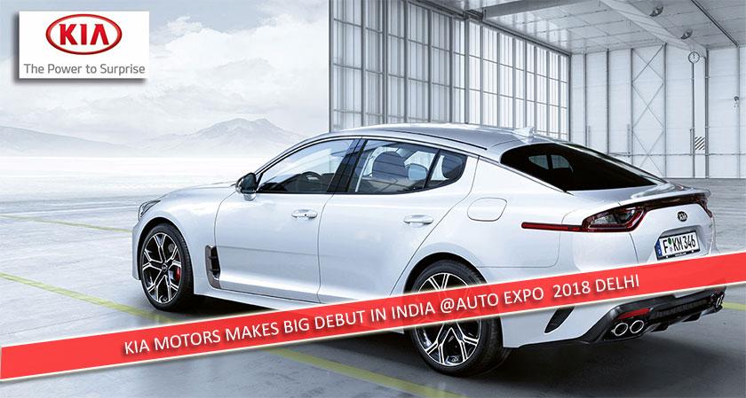 KIA Motors makes big debut in India at the Auto Expo 2018, Delhi