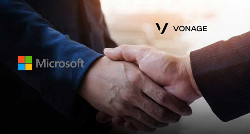Global cloud communication leader Vonage announced its partnership with Microsoft