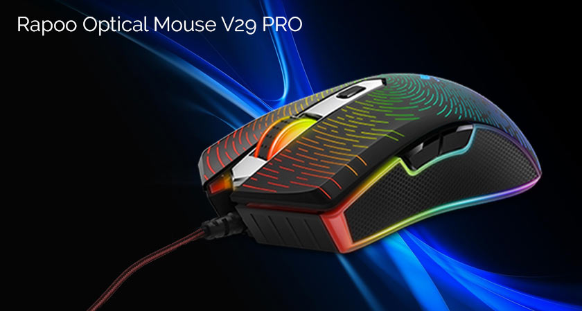 Rapoo Optical V29 PRO:  The Gaming Mouse with 8,000 DPI Sensors Now Launched In India