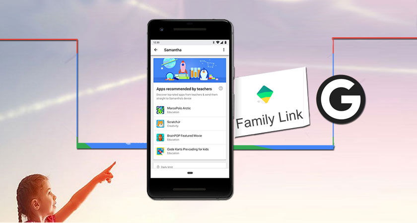 Google develops a new feature of teacher approved app recommendations for their Family Link App