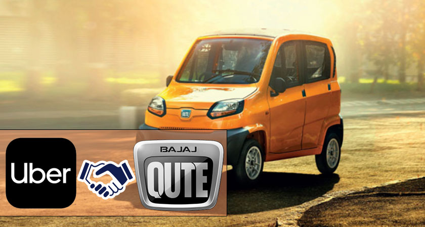 Uber to launch Bajaj Qute, a quadricycle in partnership with Bajaj Auto