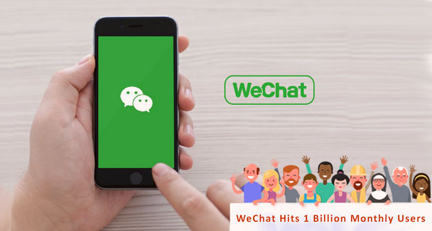 WeChat hits 1 billion monthly users