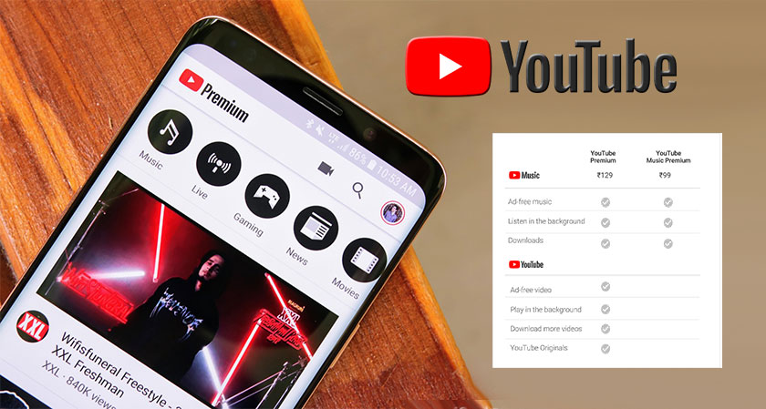 YouTube Premium and YouTube Music will now be Available in India