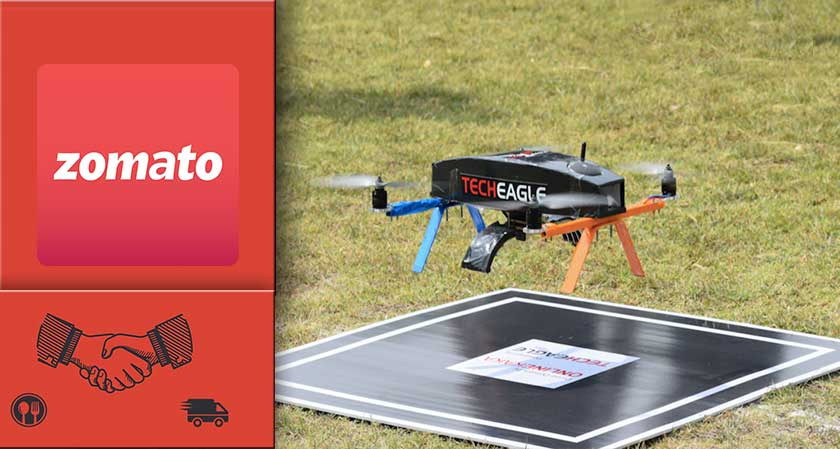 Zomato Plans to Deliver Food By drones, Acquires Tech Eagle